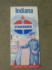 New ListingStandard Oil Company map Indiana Vintage state map