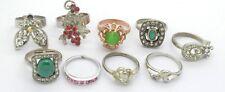 Antiquarian Rings with gemstones. 20 Century