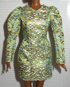 COCKTAIL C~ DRESS ~ BARBIE DOLL COLLECTOR CURVY LOOK NIGHTTIME GLAMOUR GOLD GOWN