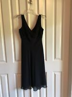 Adrianna Papell Black V-Neck Fit And Flare Dress Size 6