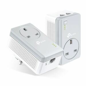 TP-Link AV600 TL-PA4022PKIT 2-Ports Passthrough Powerline Starter Kit 600pbs UK