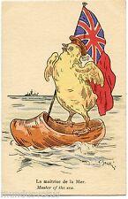 C. SANTINI . GUERRE . DRAPEAU ANGLAIS . ENGLISH FLAG . POUSSIN. CHICK. MARINE.