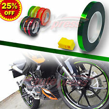 "1/4"" 6mm Striping Pin Stripe Tape Car WHEEL RIM Decal Vinyl Sticker CHROME GREEN"
