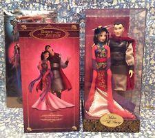 NEW Disney Store Mulan and Shang Li Fairytale Designer Doll Set Limited LE RARE