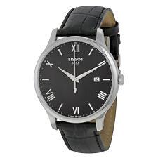 Tissot Traditon Gents Black Dial Black Leather Mens Quartz Watch T0636101605800