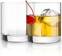 JoyJolt Nova Crystal Whiskey Glasses, Set of 2 10 oz Old Fashioned Glasses