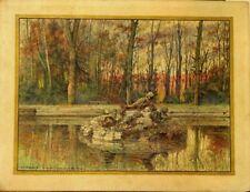 lot de deux eaux fortes 1920 Marchetti Versailles bassin de Flore & Bacchus