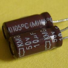 Nippon 50V 10uF KMG Electrolytic Capacitor x 25PCS. Japan New High Quality******