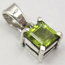 "Fashionable Pendant 1/2"" New Item 925 Sterling Silver Fancy Green Peridot"