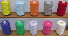 10 Large Assorted Sewing Cottons *High Quality Polyester Thread Spools*