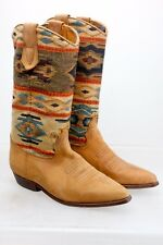 SEYCHELLES WOMENS LEATHER & FABRIC COWBOY WESTERN BOOTS SIZE 5.5