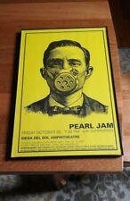 Pearl Jam Mesa Del Sol Amphitheatre Hb Poster 11X17 w/plastic frame