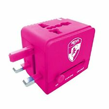 Heys All-In-One Travel Adapter PRO with USB Fuchsia 30044-0008-00