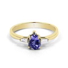Tanzanite Yellow Gold 18Carat Fine Gemstone Rings