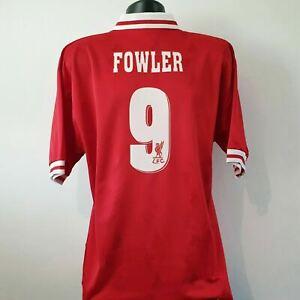 FOWLER 9 Liverpool Shirt - Large - 1996/1997 - Home Jersey Carlsberg Reebok