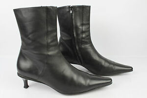 Bottines BANANA REPUBLIC Cuir Noir T 39 TBE
