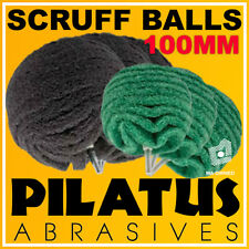 100MM PILATUS ABRASIVES SCRUFF BALL (VERY FINE) - FITS DRILLS AND DIE GRINDERS