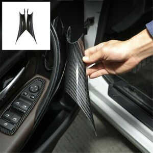 Pair Carbon Fiber Styling Car Inner Door Handle Cover Trim Special For Bmw F30