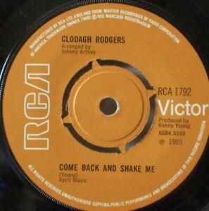 """CLODAGH RODGERS - Come Back & Shake Me - 7"""" Single"""