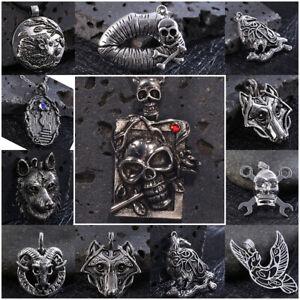 Punk Vintage Gothic Animal Skeleton Pendant Band Necklace Party Jewelry Gift