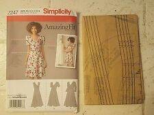 VINTAGE SEWING PATTERN dress Simplicity 2247 10-12-14-16-18 cup size B, C, D, DD