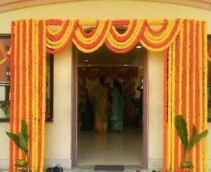 40 pc lot Indien Marigold Garland orange and yellow Strings Mehndi Decoration