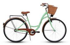28 Zoll Damenfahrrad Amsterdam Citybike Korb u. Licht,  Pistaziengrün