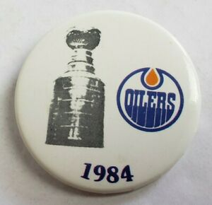 1984 EDMONTON OILERS STANLEY CUP CHAMPION NHL HOCKEY BUTTON PINBACK GRETZKY OLD
