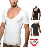 Fleyn Unterhemden Deep V-Neck Shirt V-Ausschnitt T-Shirt Kurzarm Bamboo FLY601
