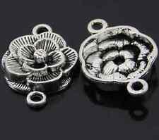 P989 /8pcs Charms Tibetan Silver flower Connectors Accessories Wholesale
