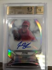 2010 Bowman Sterling Jesse Biddle Auto Bgs 9.5/10 /199 Rookie Rc Refractor