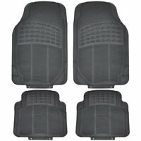 4 X Heavy Duty Waterproof Rubber Car Mats Set Non-Slip Grip Floor Black Mat Uber