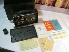 CINE KODAK MODEL B VINTAGE MOVIE CAMERA WITH LENS AND LEATHER CASE    T*