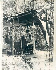 1969 Cuba Diplomat Raul V Vivo at Secret Jungle Hideout Vietnam Press Photo