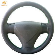 Leather Steering Wheel Cover for Hyundai Accent Getz Kia Rio 2005-2009 #QY38