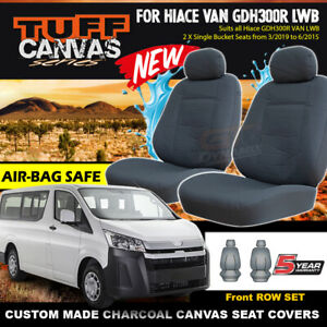 TUFF CANVAS Seat Covers for TOYOTA HIACE VAN LWB GDH300R Crew Van 2/2019-2020