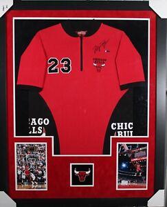 Michael Jordan #23 (AUTOGRAPHED) Chicago Bull NBA Authenticate Warmup Jacket UDA