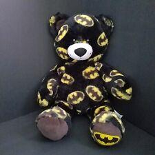 "Build a Bear Batman Logo Print Superhero Themed Stuffed Teddy DC Comics 17"""