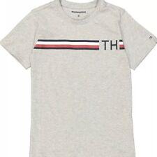 Tommy Hilfiger Boys Grey  T-shirt  aged  7-8 Years BNWT RRP £39