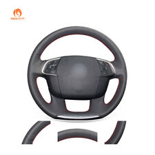 Black Artificial Leather Steering Wheel Cover for Citroen C4 C4L 2011-2015 DS4