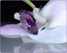 Vom Feinsten: Interessanter Amethyst Ring mit Brillanten, 20.52 ct WG-750 4.500€