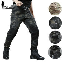 Mens Military Cargo Pants Tactical Army Combat Multi Pocket Casual Trousers Camo