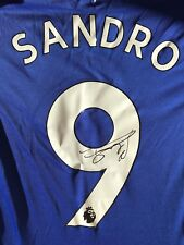 SANDRO RAMIREZ HAND SIGNED EVERTON SHIRT 2017/18 PROOF.