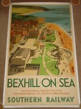 BEXHILL-ON-SEA - Original 1947 UK Southern Railway poster - Linenbacked & rare