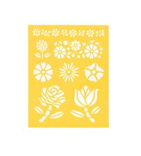 """Stencil Sheet Floral Flowers Rose Tulip 8 1/2"""" x 11 Plastic Reusable"""