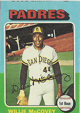 1975 Topps Willie McCovey San Diego Padres MINI #450 MISCUT FRONT Card