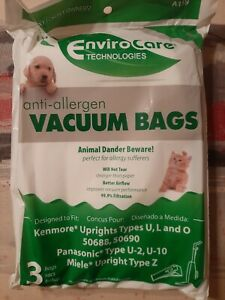 NEW Envirocare HEPA Upright Vacuum Bags Type O (Quantity 15 bags total )