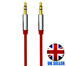 1.5 Metre Aux Red Cable 3.5 mm Gold Plated male Jack car Stereo Auxiliary Lead