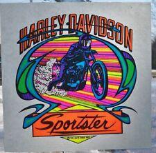 1975 Harley Davidson Sportster motorcycle iron on transfer t shirt HUGE