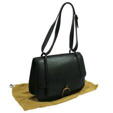 Authentic HERMES 1986's Vintage Shoulder Bag Black Ardennes Leather GHW AK34105h